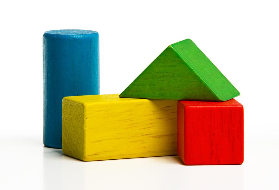 Toy Wooden Blocks, Multicolor Building Construction Bricks Over