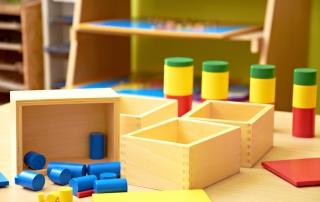 Montessori Kindergarten Preschool Classroom-Montessori material for play and education
